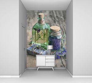 Лавандовое масло для ванны с цветами