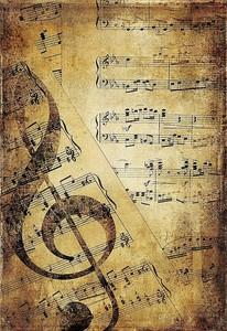 Музыкальный фон в стиле ретро