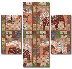 Африканский орнамент в стиле пэчворк