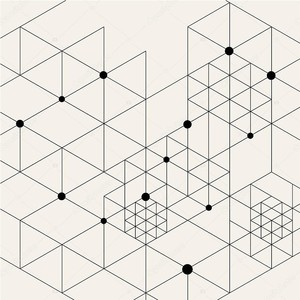 Техно геометрический рисунок