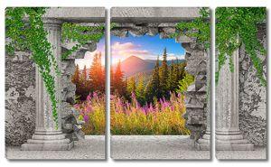 Пейзаж в проломе стены