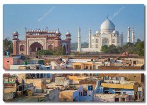 Тадж-Махал, Великая Ворота и крыши домов