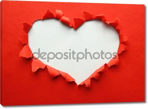 Красивая обрывки бумаги в форме символ сердца