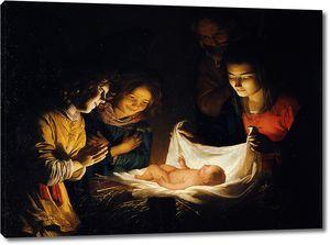 Геррит ван Хонтхорст. Поклонение Младенцу
