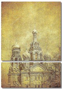 Старинное изображение Спаса на крови в Петербурге