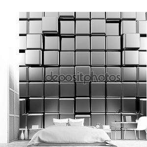 Металлическая абстракция из кубов