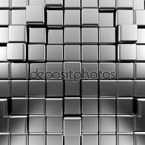 Серебряный абстрактный кубов
