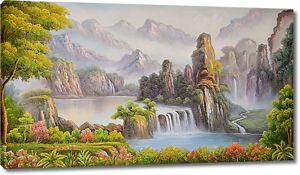 Каньон с водопадами
