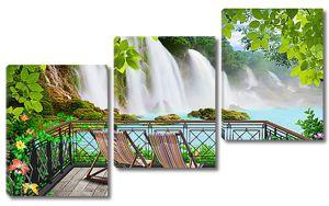 Водопад с террасы