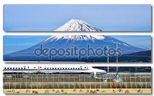 Фудзи и поезд