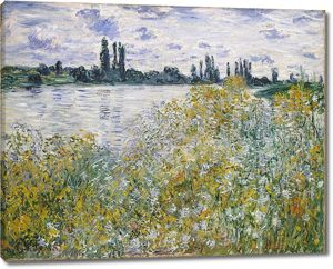 Моне Клод. Остров Цветов на Сене близ Ветей , 1880