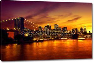 Бруклинский мост на закате