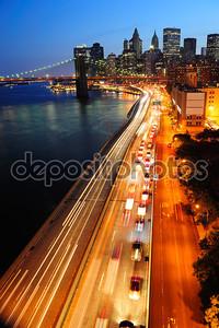 Центр города Нью-Йорка Манхэттен