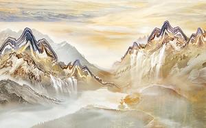 Горы из желтого мрамора