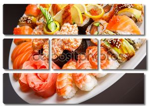Японский суши на тарелке