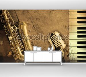 Саксофон и клавиатура