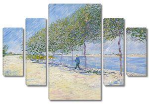 Ван Гог. Прогулка вдоль берегов Сены близ Аньера
