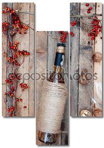 Натюрморт с бутылкой белого вина