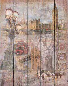 Коллаж с различными видами Лондона