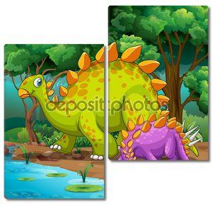 Динозавры, живущих в джунглях