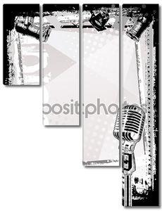 Микрофон плакат фон
