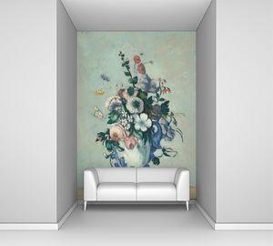 Поль Сезанн. Цветы в вазе рококо