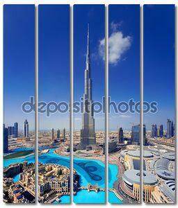 Скайлайн Даунтаун Дубай с Бурдж Халифа и Дубай Молл