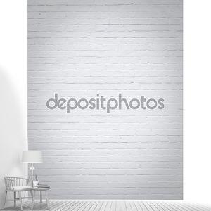 белый фон кирпичной стены