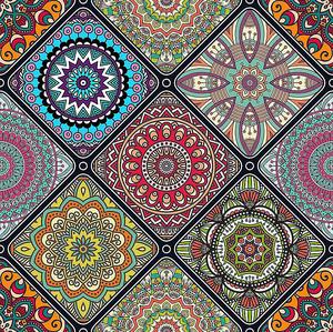 Плитка с красочными орнаментами