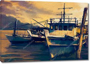 Рыболовные суда в гавани
