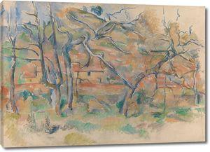 Поль Сезанн. Деревья и дома в месте под названием La Durane