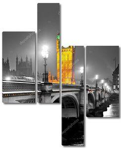 Биг Бен, Парламент и Вестминстерский мост ночью