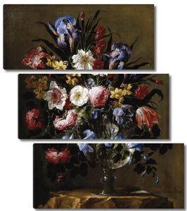 Арельяно Хуан де. Стеклянная ваза с цветами