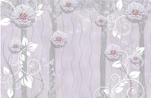 Цветы на волнистом фоне
