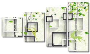 Рамочки объемные с деревьями