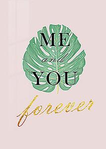Слоган на пальмовом листе