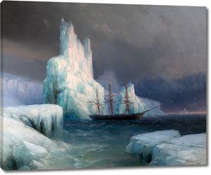 Айвазовский. Ледяные горы в Антарктиде