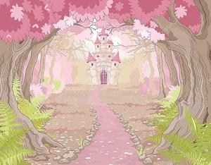 Волшебный замок в волшебном лесу