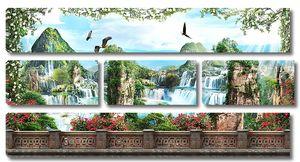 Местность с водопадами