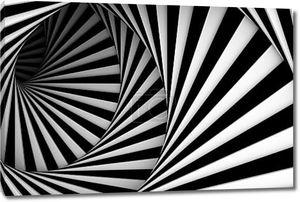 Черно-белая гладкая спираль