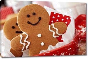 Улыбающиеся печеньки на рождество