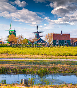 Аутентичная архитектура Голландии в Zaanstad