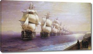 Айвазовский. Смотр Черноморского флота в 1849 году