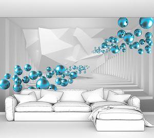 Голубые шарики в тоннеле