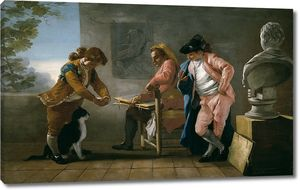 Кастильо Хосе дель. Студия рисунка. Дети играют с кошкой или мастерская художника