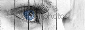 Голубой глаз - красивая, женственная