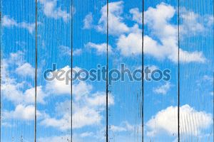 Облака с голубым небом