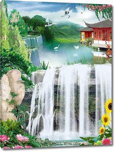 Водопады у дома на реке