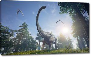 Динозавр на поляне