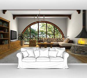 Посмотреть на современной гостиной